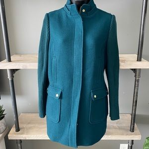 ⬇️Talbots Petite Teal Wool Blend Pea Coat Size 6P